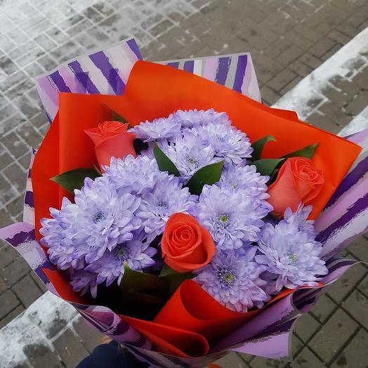Букет 114 с коралловыми розами