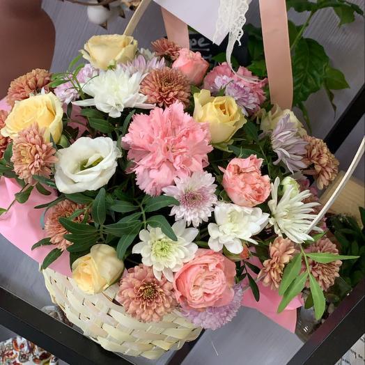 Корзина с цветами, размер М