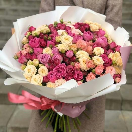 Bouquet of 51 bush roses