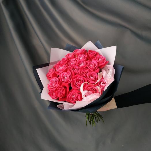 """Букет""""25 малиновых роз"""""""
