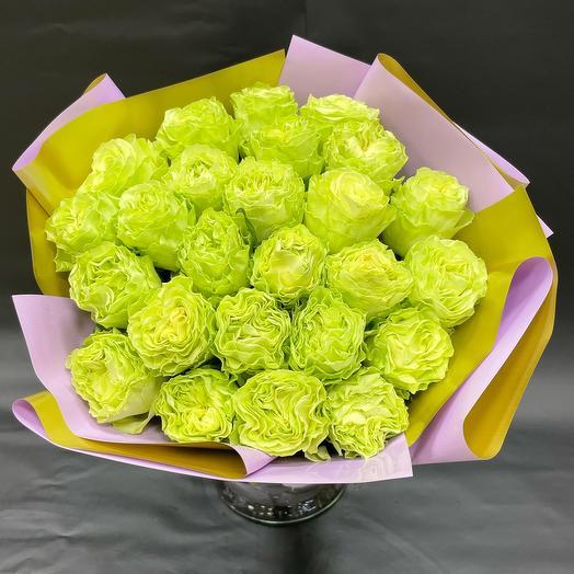 25 Пионовидных роз Эквадор