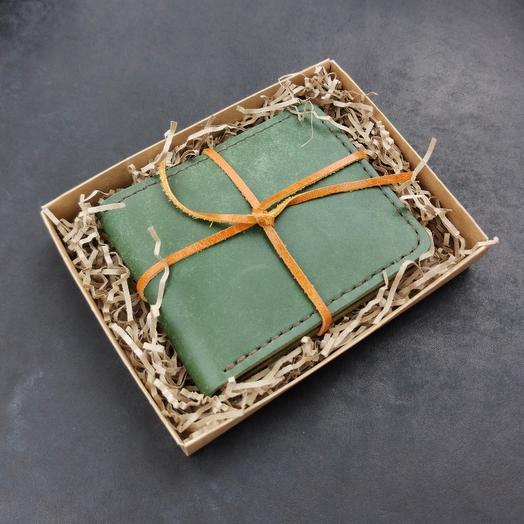 Бумажник, портмоне из кожи растительного дубления