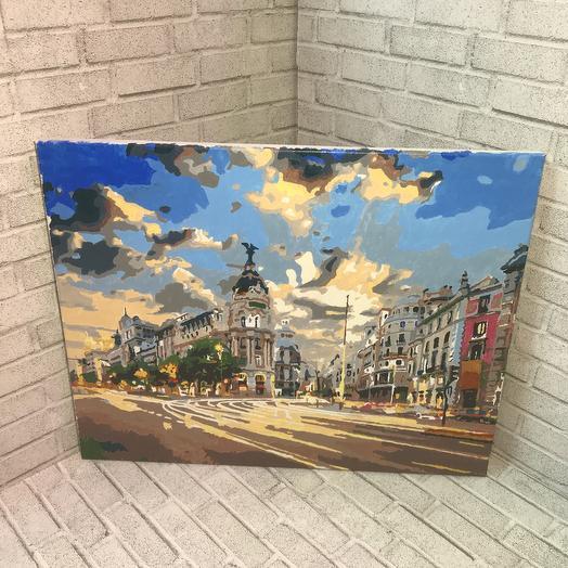 Картина вид города