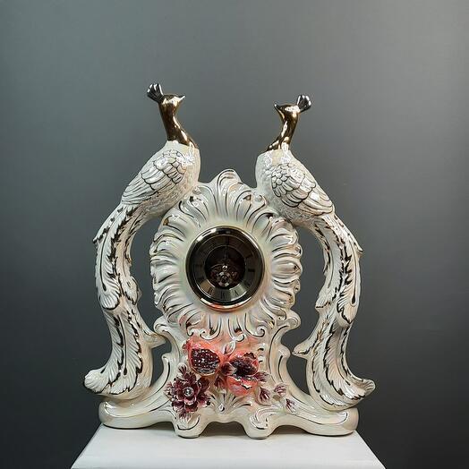 Сувенир.Часы керамические,,Жар птица