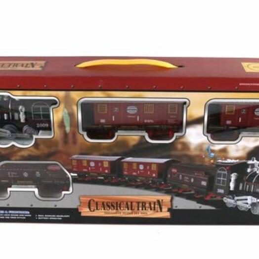 Железная дорога на батарейках(свет,звук) в коробке