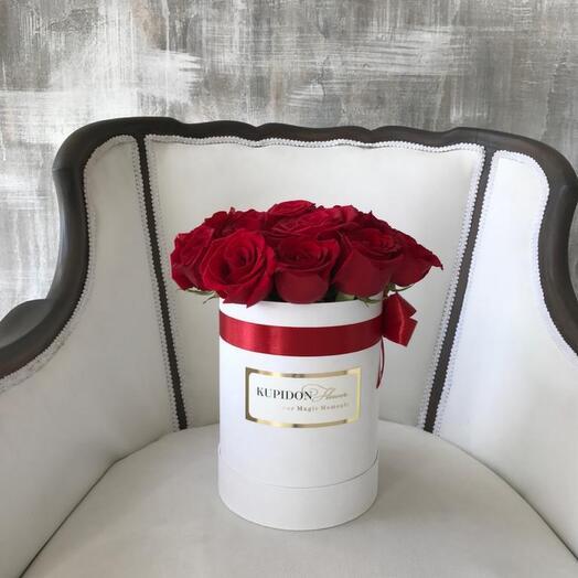 Шляпная коробка на 13-15 роз