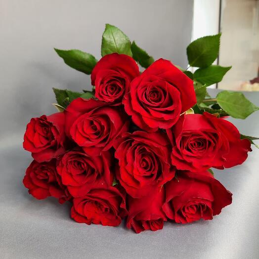 Букет из красных роз 11 шт