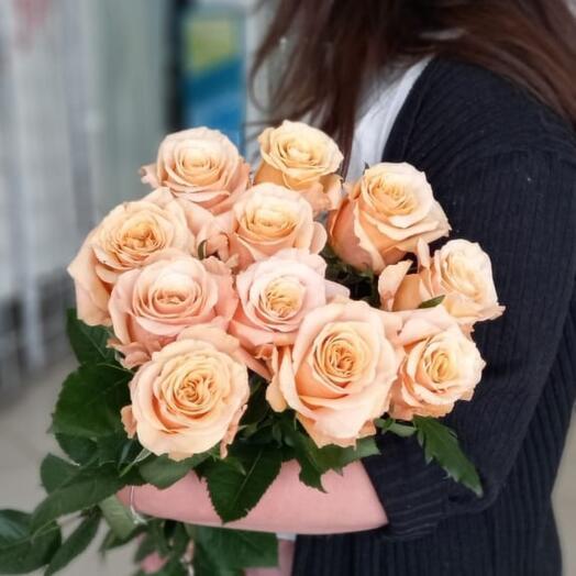 Монобукет из эквадорских роз Шиммер 11 шт