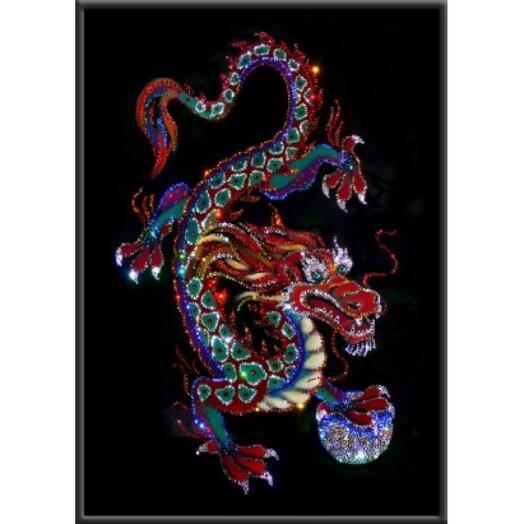 "Картина с кристаллами Swarovski ""Императорский дракон"""