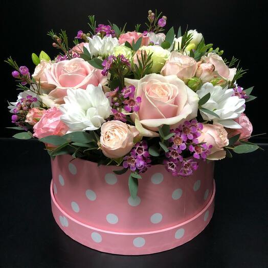 Цветы в коробке «Нимфа»