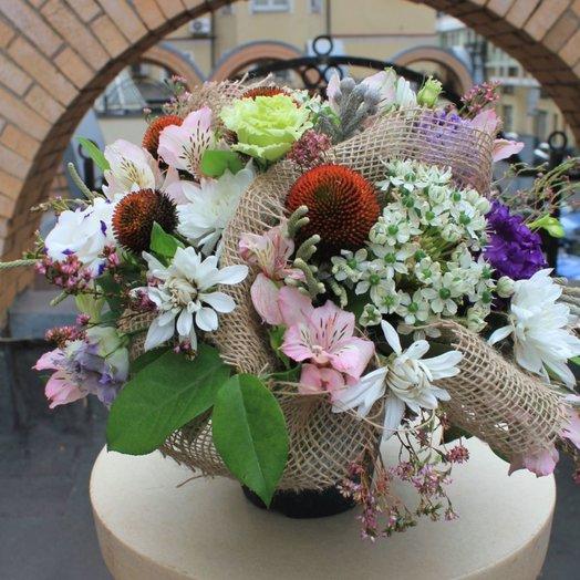 Букет в горшочке Рубдек: букеты цветов на заказ Flowwow