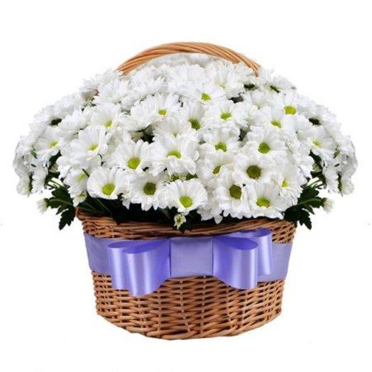 Корзина Ромашковое поле: букеты цветов на заказ Flowwow