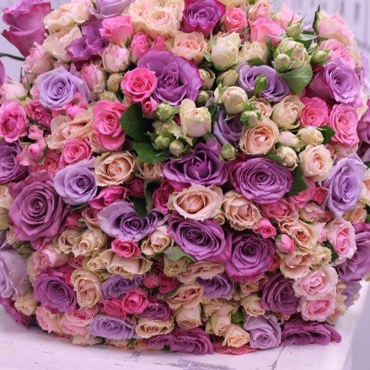 Букет 101 роза микс: букеты цветов на заказ Flowwow