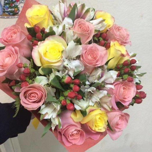 Букет  Розовое наслождение: букеты цветов на заказ Flowwow