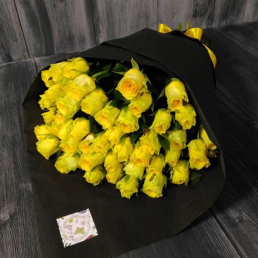Букет жёлтых роз: букеты цветов на заказ Flowwow