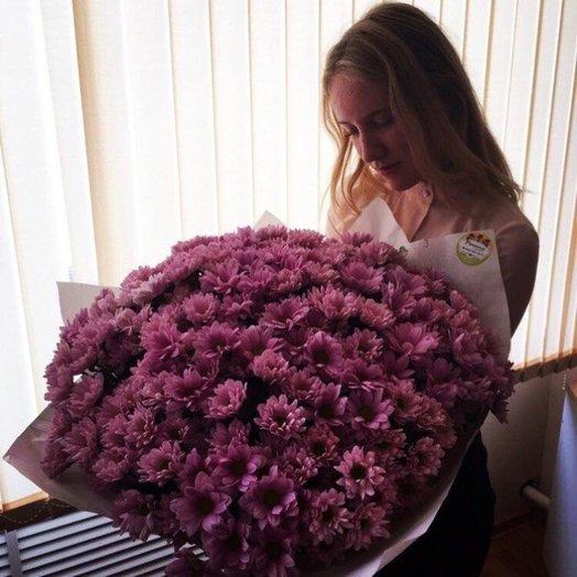Фиолетовая вата: букеты цветов на заказ Flowwow