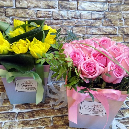 Коробочка с розами!: букеты цветов на заказ Flowwow
