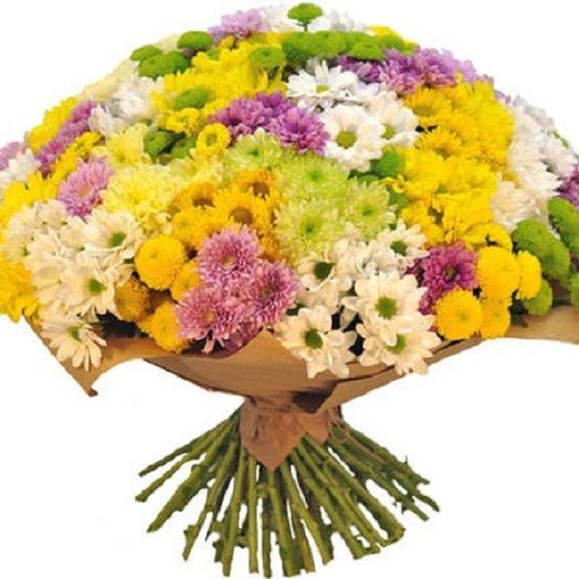 Букет из 51 кустовой хризантемы микс: букеты цветов на заказ Flowwow