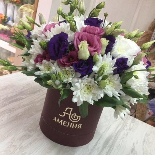 Коробочка с эустомой: букеты цветов на заказ Flowwow