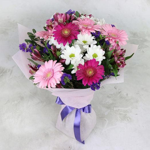 Букет из хризантем и гербер: букеты цветов на заказ Flowwow