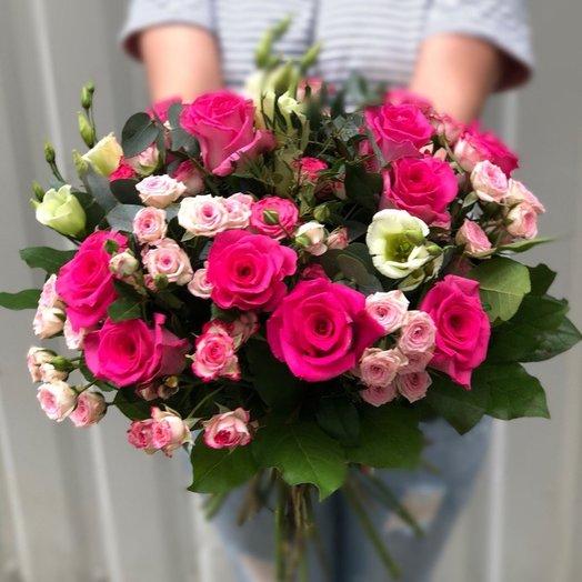 Розовый рассвет: букеты цветов на заказ Flowwow
