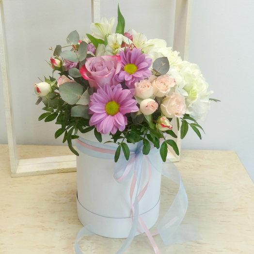 Шляпная коробка 9: букеты цветов на заказ Flowwow