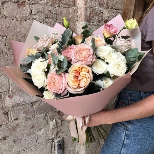 Букет пудровая нежность: букеты цветов на заказ Flowwow