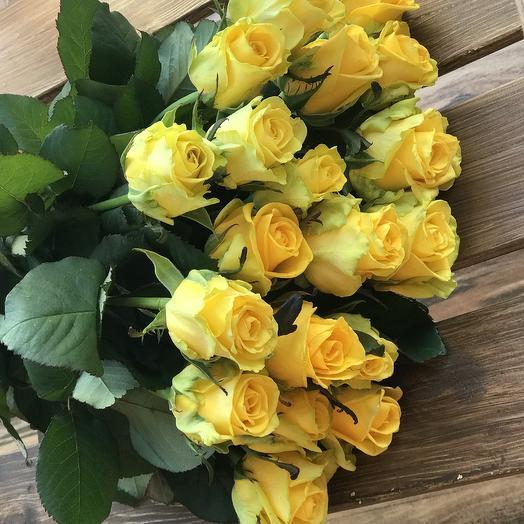 Букет солнечных роз Эквадор