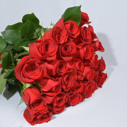 19 red roses 50cm in bouquet: flowers to order Flowwow