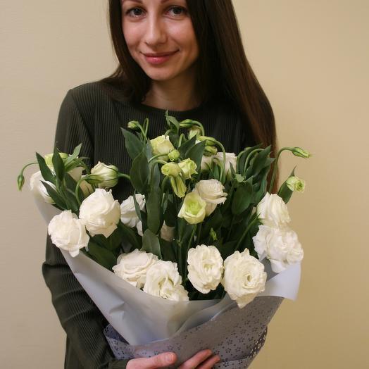 Воздушная, нежная эустома, она же лизиантус (21 штука): букеты цветов на заказ Flowwow