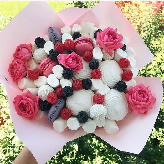 Сладкий букет «Воздушный»: букеты цветов на заказ Flowwow
