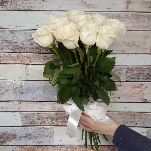 11 белых роз: букеты цветов на заказ Flowwow