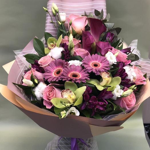 Розовая феерия: букеты цветов на заказ Flowwow