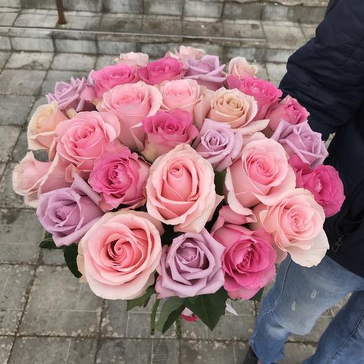 Микс из роз: букеты цветов на заказ Flowwow