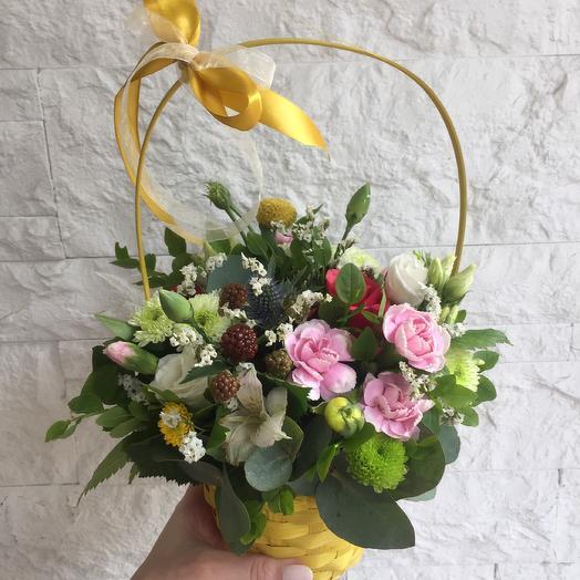 Солнечное лукошко: букеты цветов на заказ Flowwow