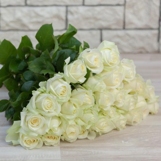 Букет из 29 белых роз: букеты цветов на заказ Flowwow