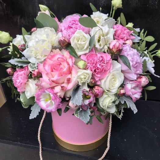 Коробка «Розовое небо»: букеты цветов на заказ Flowwow