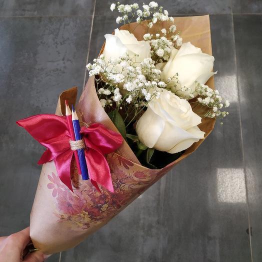 Букет школьника на 1 сентября (4): букеты цветов на заказ Flowwow