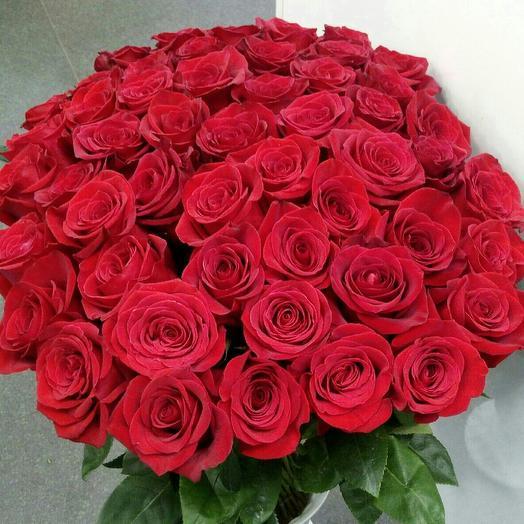 Букет из 51 красной розы (70 см)