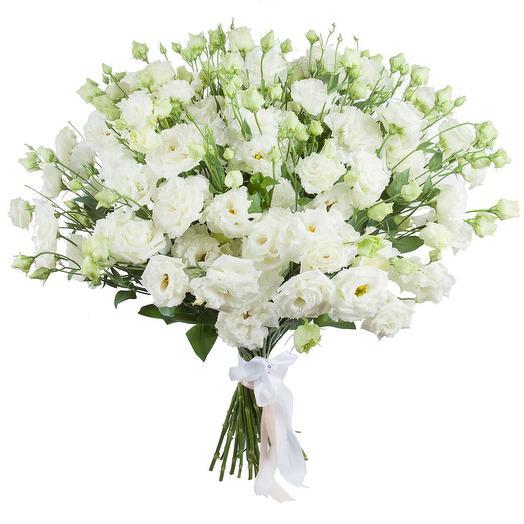"""Букет из эустомы """"Снежная лавина"""": букеты цветов на заказ Flowwow"""