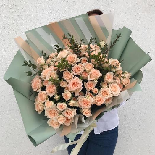 Кремовое счастье: букеты цветов на заказ Flowwow
