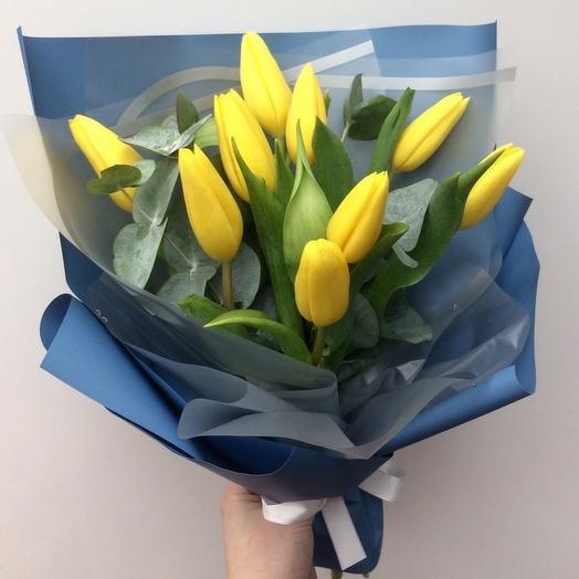 Тюльпаны солнца: букеты цветов на заказ Flowwow
