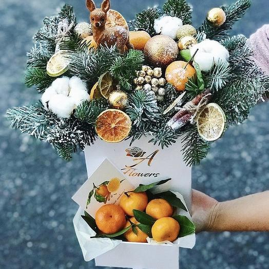 Christmas box-box: flowers to order Flowwow