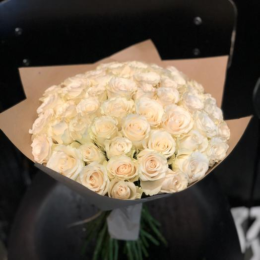 Букет из белых роз 51