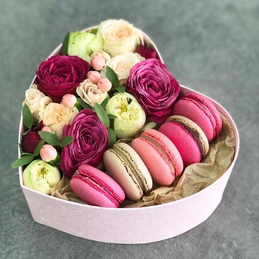 Сахарное сердце: букеты цветов на заказ Flowwow