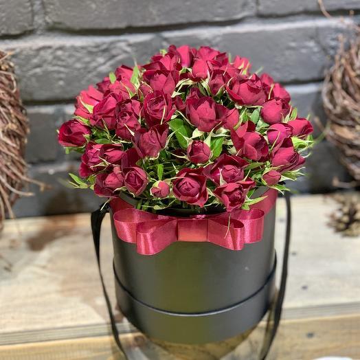 "Композиция в коробке ""Бархат"": букеты цветов на заказ Flowwow"