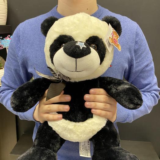 Медведь панда: букеты цветов на заказ Flowwow