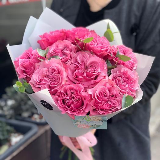 Пионовидные розы Кантри Блюз 💞