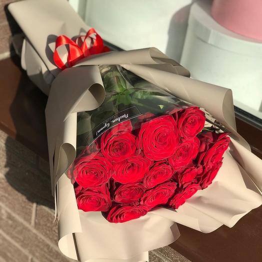 Stylish bouquet of roses
