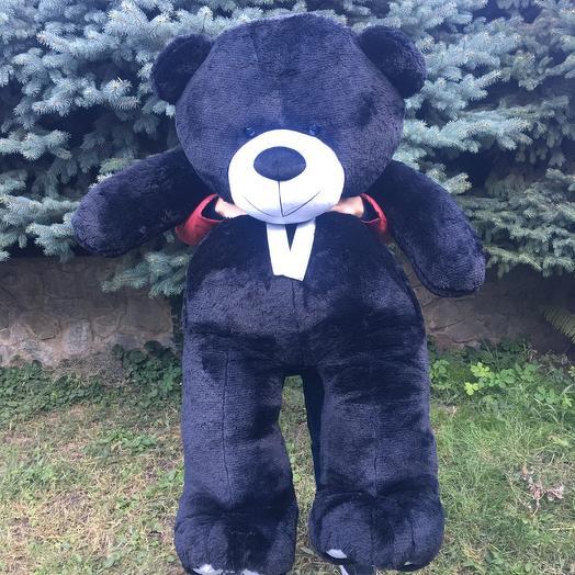 Плюшевий ведмедик 200 см чорний